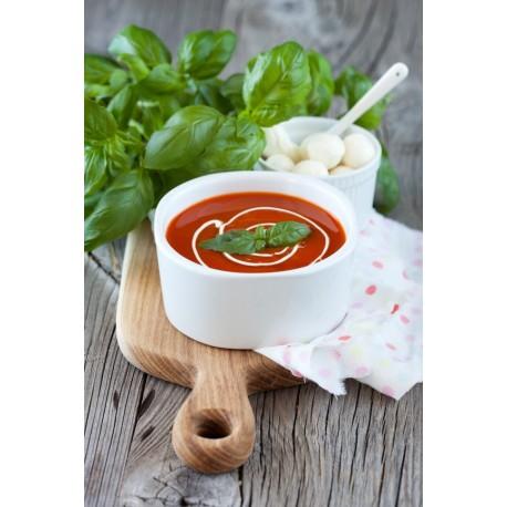 Krem z pomidorów z mozzarellą