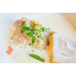 Filet z morszczuka w sosie porowym/ śmietanowo-cytrynowym