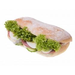 Kanapka Ciabatta z camembert i salami
